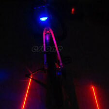 2 Laser + 5 LED Bicycle Bike Cycling Taillight Warning Lamp Flashing Alarm Light