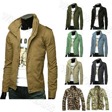 British Style Men's Classic Retro Stand Collar Casual Coats Jacket SHO