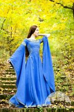 "Medieval Costume , Linen Medieval Dress ""Lady of the Lake"""