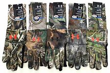 Under Armour Cold Gear Camo Liner Hunt Gloves