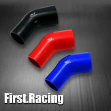 45 Degree Elbow Reducer Silicone Turbo Hose Coolant Joiner Intercooler YJRACING