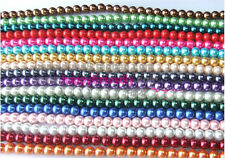 Arrived European Glass Loose Pearl Beads Hot 4/6/8/10/ 12/14/16mm U Pick Color