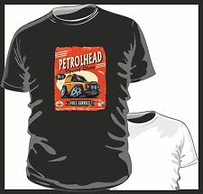 KOOLART PETROLHEAD SPEED SHOP LANDROVER DEFENDER 90 mens or ladyfit t-shirt B/W