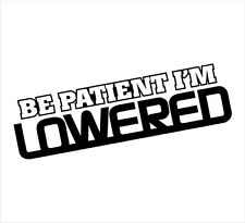 "Be Patient I'm Lowered - Funny Stickers- 7""x3"" Multiple Colors Available"