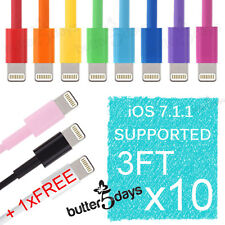 10x 8 Pin Colorful USB Data Sync Charger Cable Cord for iPhone SE 6s iPod Touch