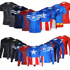 10 Types Amazing Superhero Casual Tops Costume T-Shirt Tomboy Running Bike Shirt