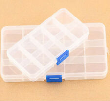 Plastic 15/10 Slots Adjustable Jewelry Storage Box Case Craft Organizer Beads sh