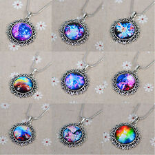 HOT! 1X Charm Space Galaxy Sky Photo Glass tiles Dome  Pendant Fashion Necklace