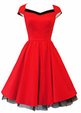 New H&R Vintage 1950's style Red Rockabilly Pin-up Party  Prom Dress