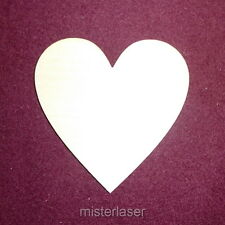 10 x wooden heart blank 100mm 4inch 10cm craft valentines wedding
