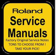 Original Factory Roland Service Notes (H-P) Service Manuals- Tons to Choose From