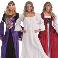 RED PURPLE WHITE MEDIEVAL RENAISSANCE GOWN DRESS FANCY DRESS COSTUME MAID MARIAN