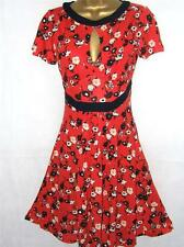 FRENCH CONNECTION RED FLORAL TEA DRESS SIZE 4 - 16 NEW £60 JERSEY NAVY