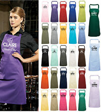 Personalised Head Chef Apron With Pocket Gift Present Cooking Baking Christmas