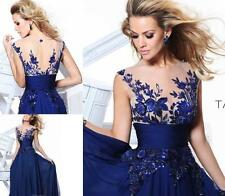 Fashion Long Blue applique Prom Gown Evening / Party / Cocktail / Prom Dress