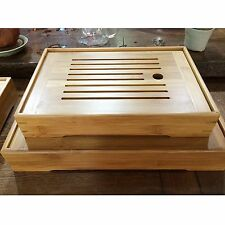 New Bamboo Gongfu Tea Tray Chinese Serving Table 3 Size High Quality Wholesale