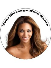 """Beyonce Cake  topper 7.5""""  round(pre cut icing)"""