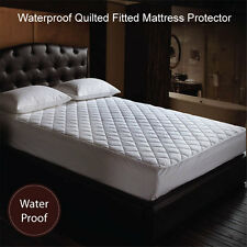 NEW ARRIVAL Waterproof Quilted Fitted Mattress Protector S / KS / D / Q / K