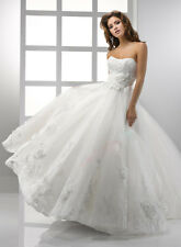 Hot Sale 2014 new style elegant White / ivory long Bride Wedding dress