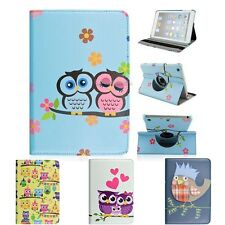 360 Rotating Cartoon Owl Leather PU Case Cover With Stand For Apple iPad Mini