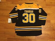 New Tim Thomas # 30 Reebok Boston Bruins Youth Hockey Replica Black Jersey