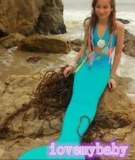 NEW Mermaid Tail, Affordable, Fun with Fin by the2 tails Green Swimsuit Costume