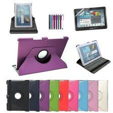 360 Rotating PU Leather Case Stand Cover + Film + Stylus For Samsung Galaxy Tab
