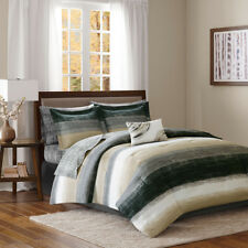 BEAUTIFUL MODERN CHIC ELEGANT TAUPE BROWN GOLD BED IN BAG COMFORTER SET w SHEETS