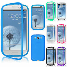 TPU Wrap Up w/ Built-In Case Cover Screen Protector For Samsung Galaxy S3 i9300