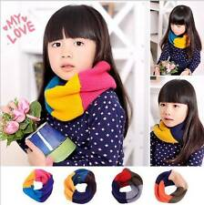 Hot Girls Boy Kids Child Winter Knitted Neck Warmer Scarf Scarves Snood Tube #
