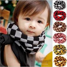Lattice Girls Boy Kids Child Winter Knitted Neck Warm Scarf Scarves Snood Tube +