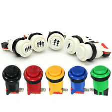 Arcade Push Buttons Durable Multicade MAME Jamma Game Long Switch Mult-color