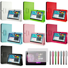 Leather Case Cover For Samsung Galaxy Tab 2 10.1 P5100 P5113 P5110 +Film +Stylus