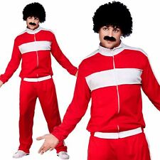 Scouser Tracksuit Mens Fancy Dress 1980s Retro Shell Suit 80s Adult Costume New