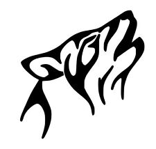 Re-Useable Wolf Temporary Tattoo Airbrush Stencil
