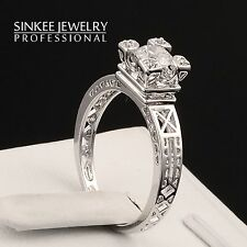 sinkee unique design white gold plated Engagement rings for women gift JZ400