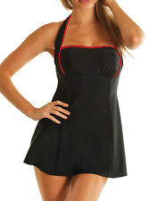 Carol Wior Slimsuit 4 Way Bandeau Swimdress Swimsuit w Miracle Slimming Control