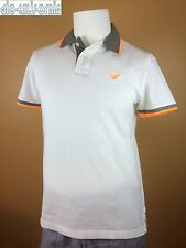 NWT AMERICAN EAGLE OUTFITTERS MEN'S TIPPED POLO WHITE