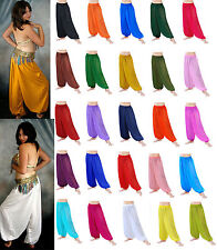 CA01 Women Girl Student Harem Yoga Genie Belly Dance Pant Trouser Costume 23Colr