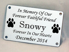 Pet Bench Memorial Plaque, Engraved Sign,
