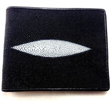 NEW HQ GENUINE STINGRAY LEATHER WALLET,BI-FOLD ,COIN PURSE ZIPPER,CARD HOLDER