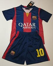 KIDS FC BARCELONA MESSI #10 OR NEYMAR #11 FOOTBALL JERSEY & SHORT UNIFORM SETS