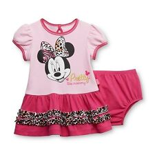 Minnie Mouse Baby Girl's Ruffled Dress & Diaper Cover (Pretty like Mom) - 6-9M