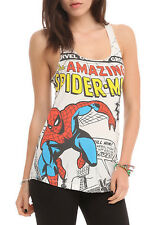 NEW Marvel The Amazing Spider-Man Comic Cover Girls Tank