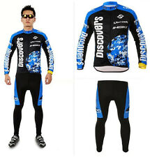 Mens Bicycle Wear Long Sleeve Cycling Jerseys Bike Padded Pants Biking Clothing