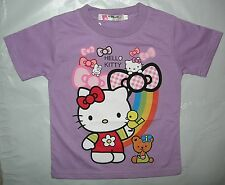 New HELLO KITTY Girls Summer Cotton Top/T-Shirt Size 1,2,3,4,5,6