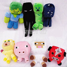 Minecraft Doll Enderman kids Mooshroom Pig Squid Ocelot Creeper Plush Soft Toy