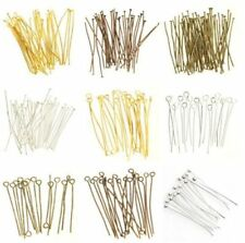 100pcs Silver/Golden Head Eye Ball Style Pin Jewelry Finding Many Sizes