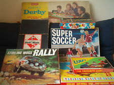 VINTAGE & RARE TABLE TOP GAMES Monopoly,Rally,Soccer   order from drop-down menu