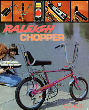 raleigh chopper metal sign , raleigh all steel bicycle classic bike sign